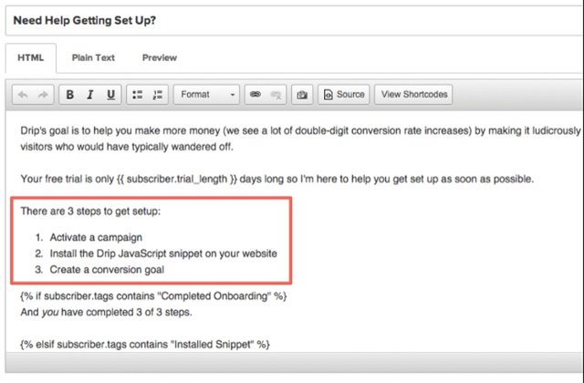 drip onboarding email setup