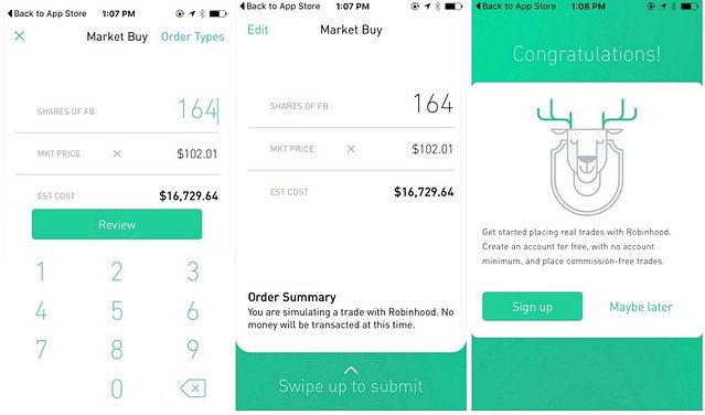 robinhood purchase tutorial customer onboarding