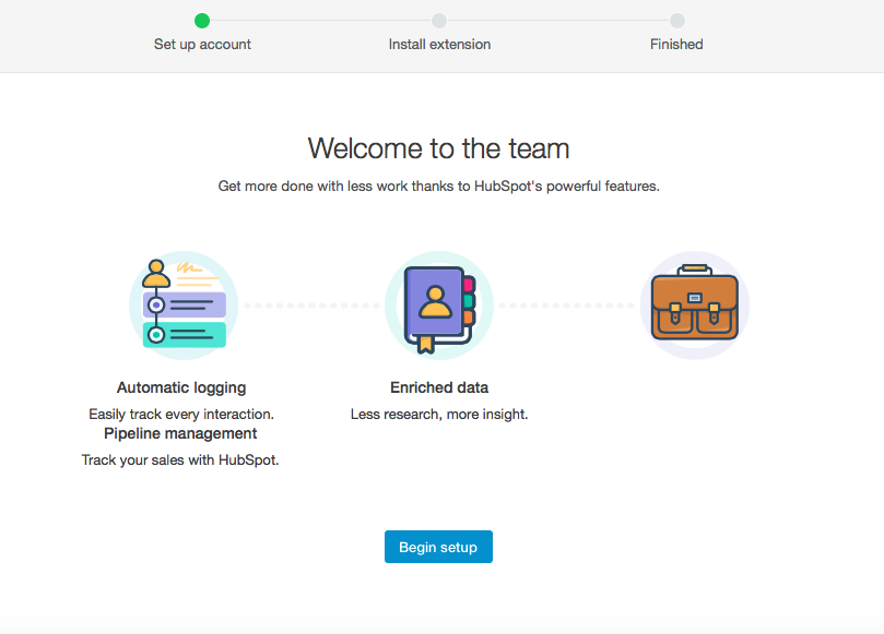 HubSpot invited user onboarding