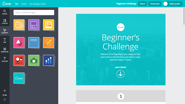 Canva beginners challenge user onboarding
