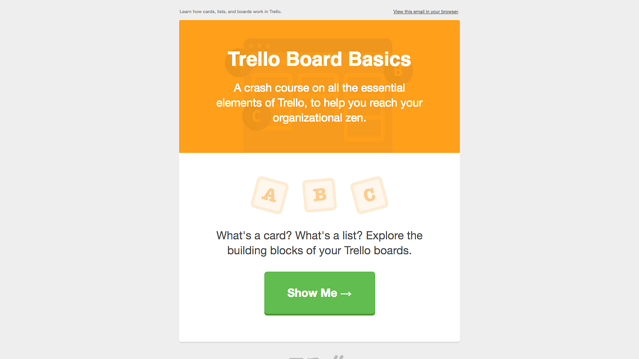 Trello email 2 board basics