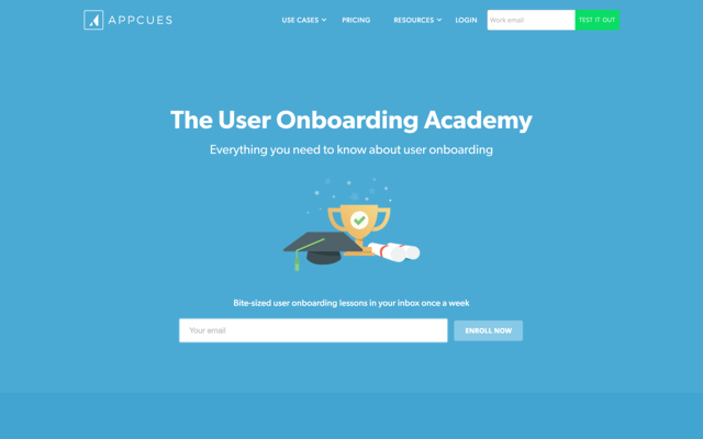 appcues user onboarding academy