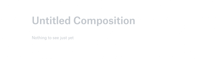 "this is a screeshot from dropbox showing clever ux copy in a blank document. This is a good empty state screen example. the headline reads ""untitled composition"""