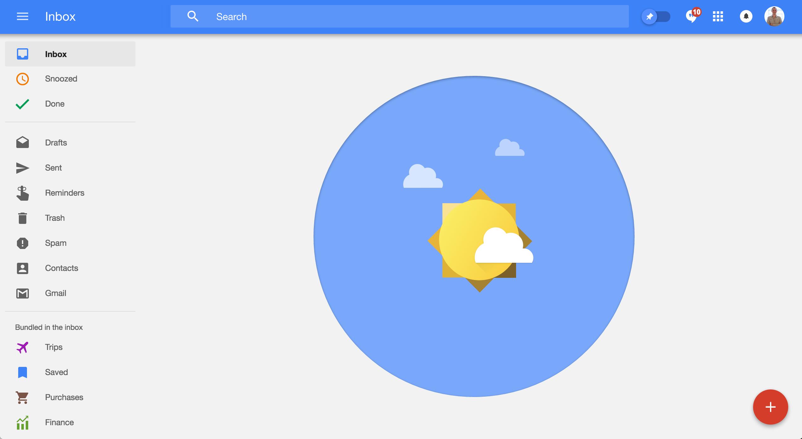 Google Inbox celebration