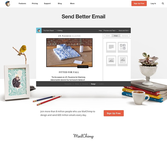 MailChimp website