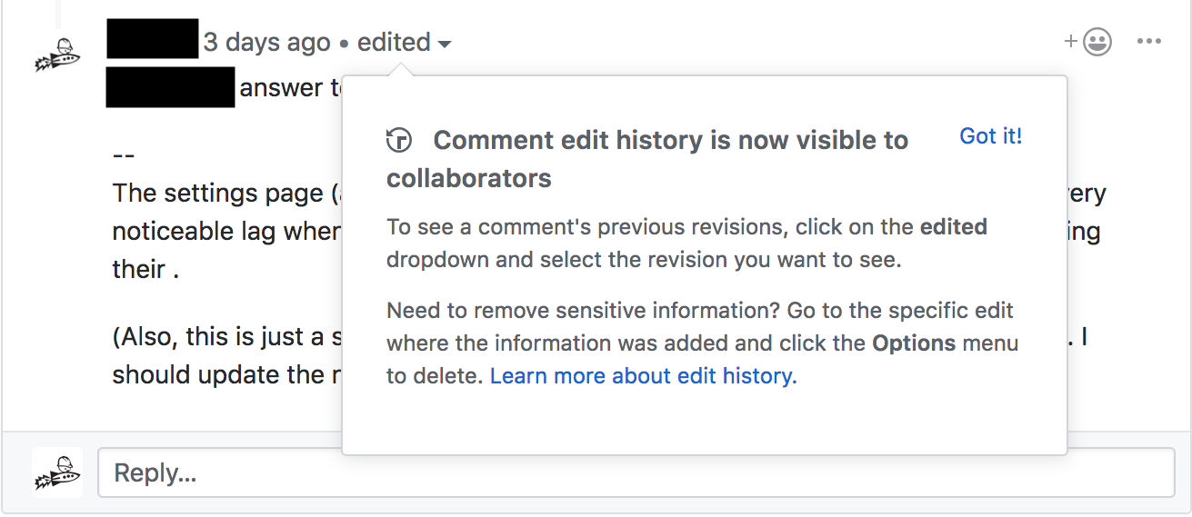 this is a screenshot image of a new feature announcement tooltip in github