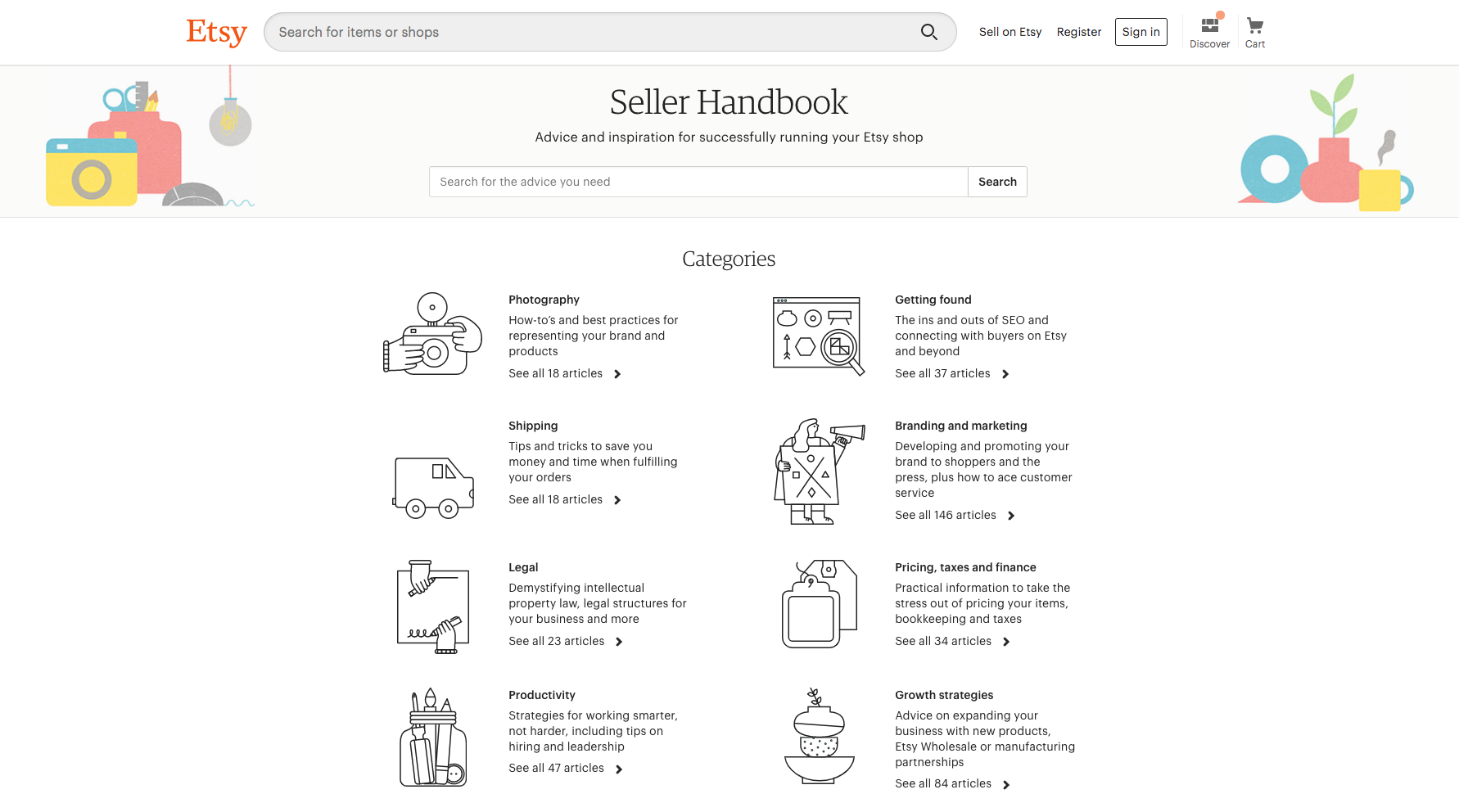 etsy seller handbook dashboard