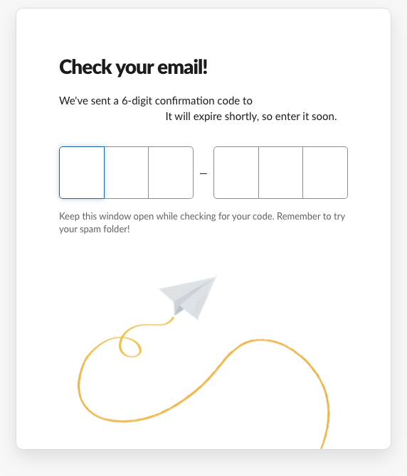 slack new user onboarding in 2019 confirmation code email