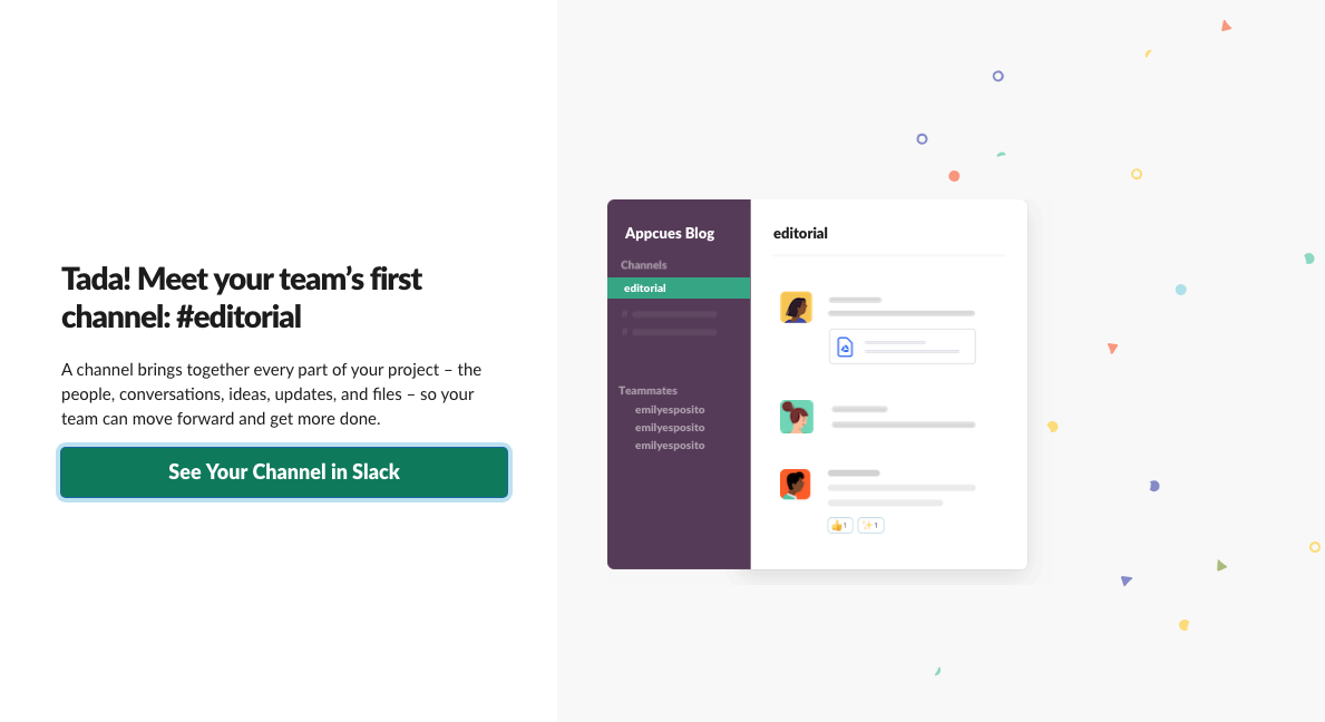 slack new 2019 user onboarding account creation step