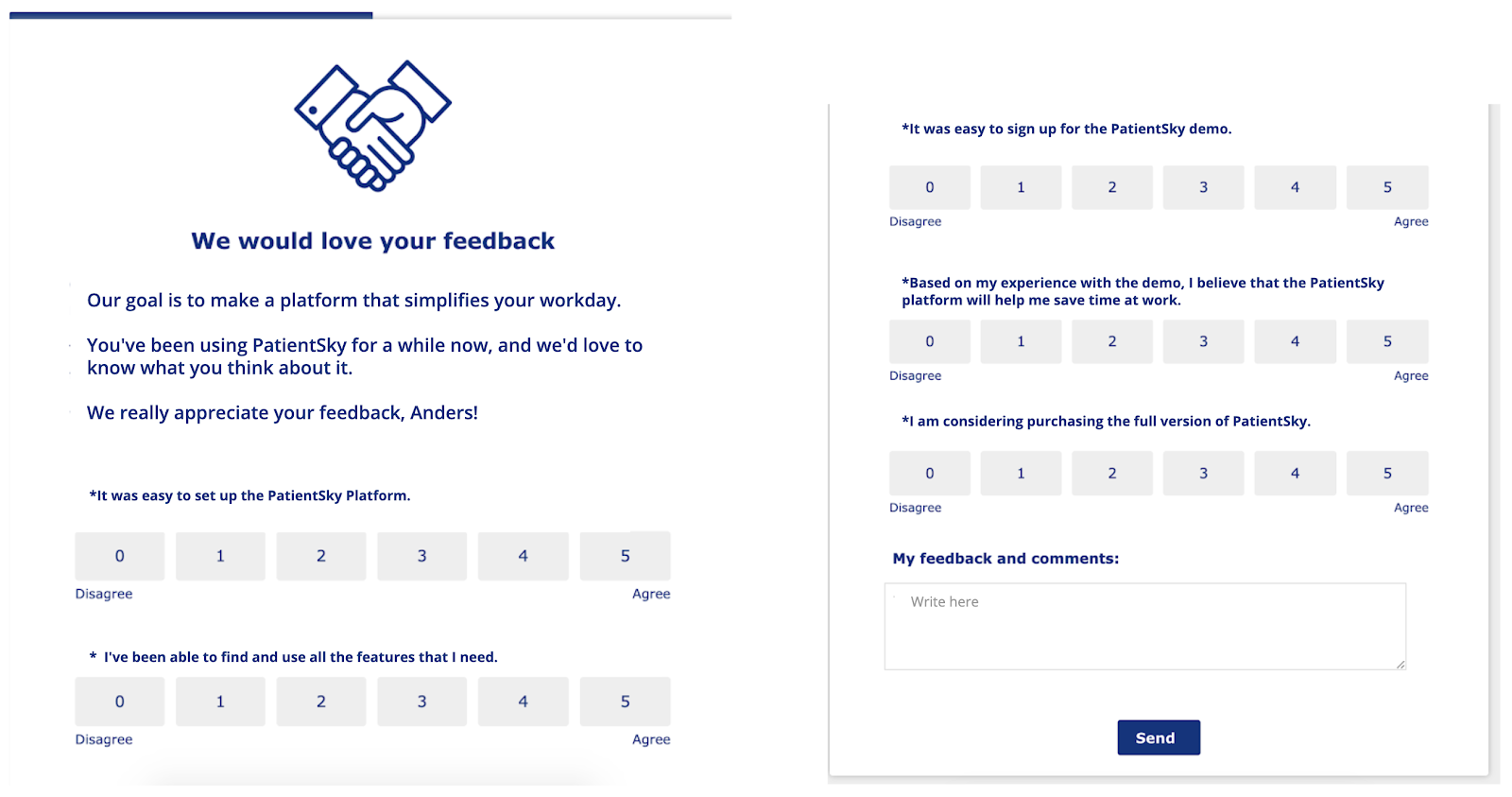 patientsky healthcare tech appcues in-app feedback customer survey
