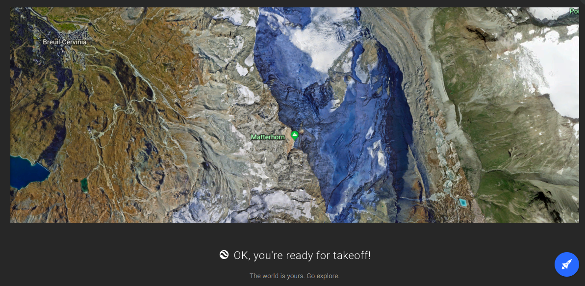 google earth redesign new feature announcement fullscreen modal terrain map