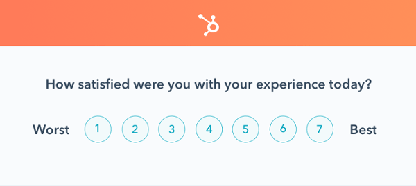 csat survey example: how satisfied were you with your experience today