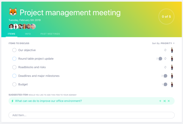 project management product management meeting template example