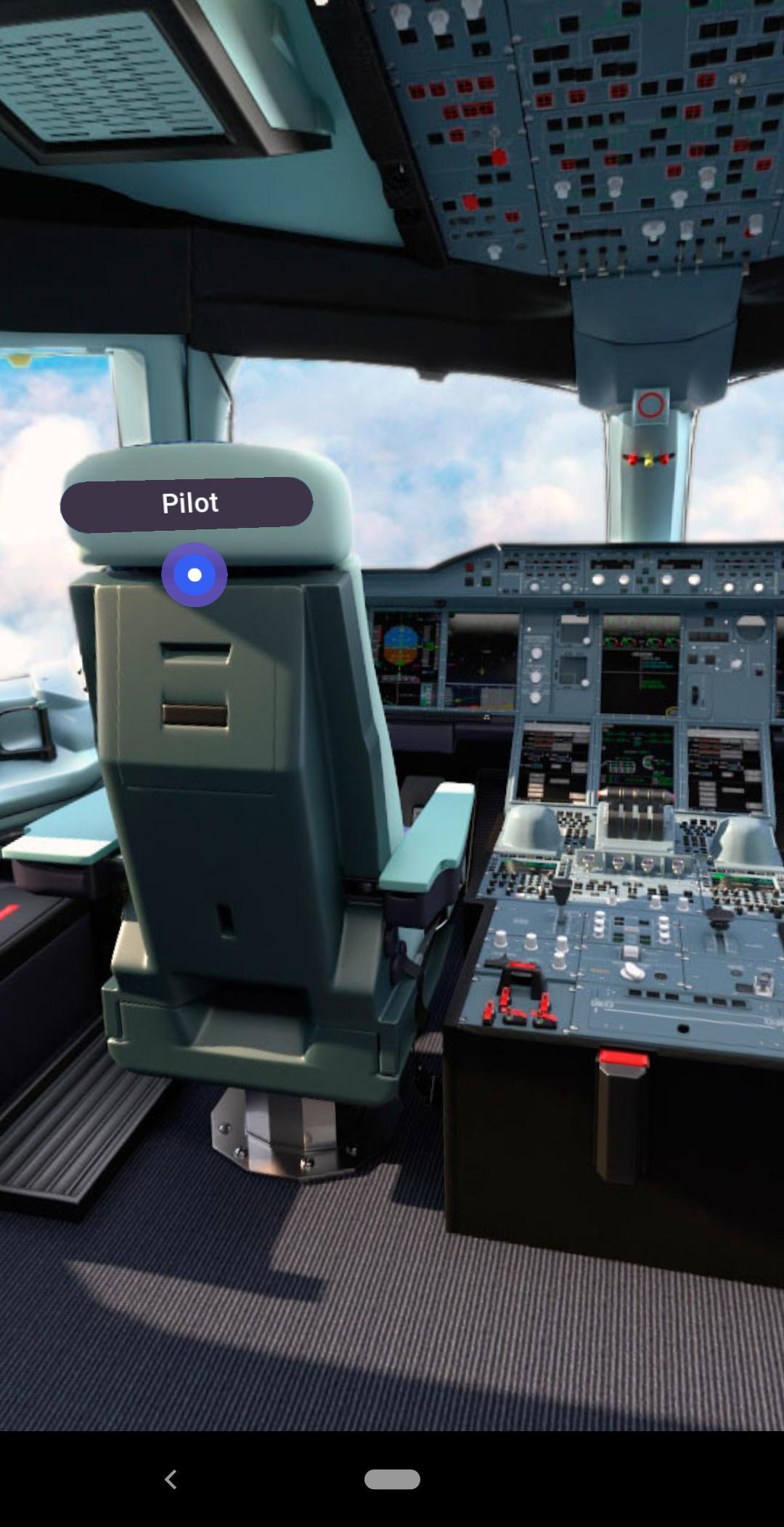 iflyA380 mobile app augmented reality cockpit
