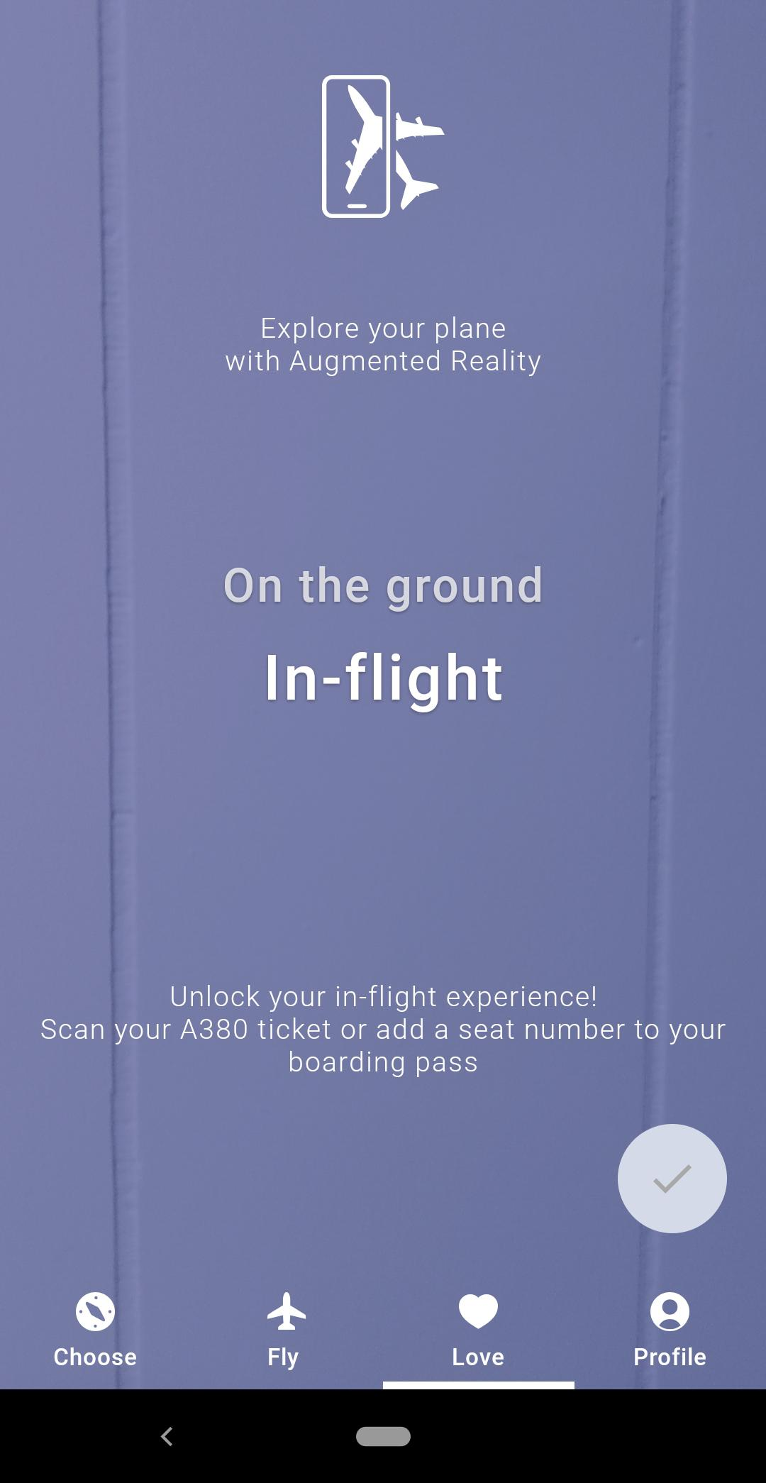 iflyA380 augmented reality mobile app for airplane passengers