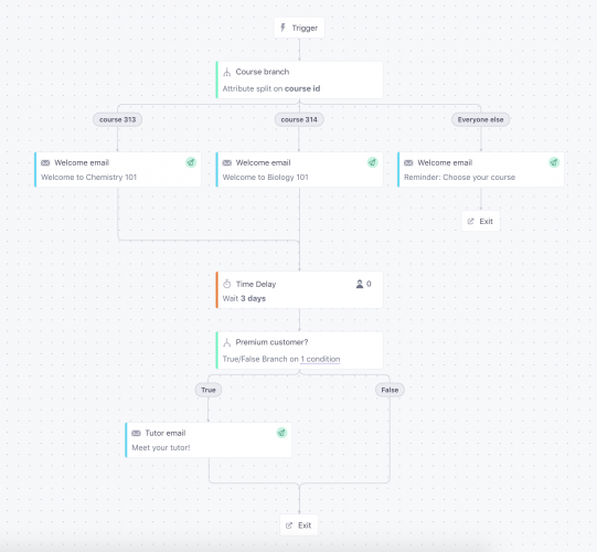 customer io email segmentation and targeting workflow automation