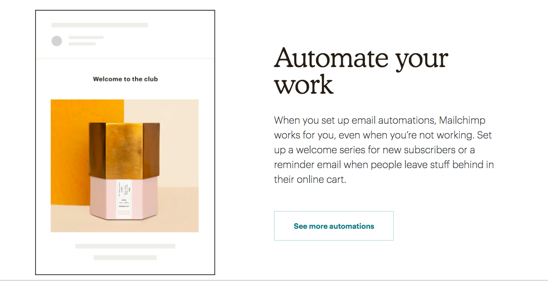 mailchimp marketing email automation tool