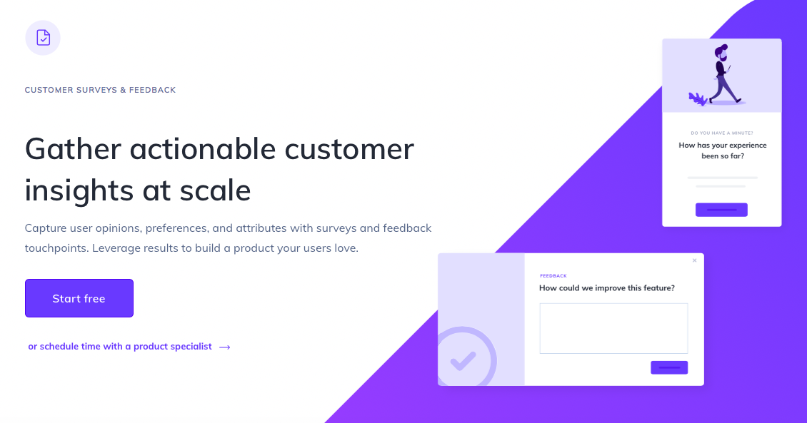 appcues for customer surveys and feedback