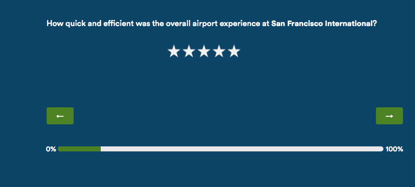 alaska airlines customer survey star rating