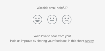 nest csat customer satisfaction survey email smiley face
