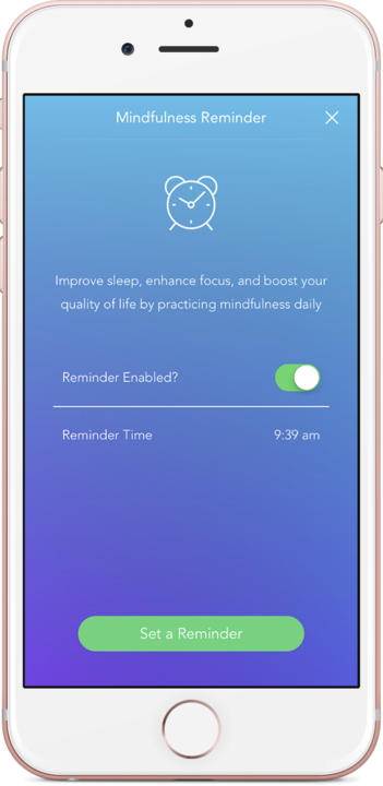 calm app mindfulness reminder key feature