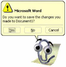 clippy tooltip microsoft word mascot