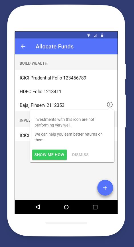 fisdom fintech app upgrade prompt upsell tooltip