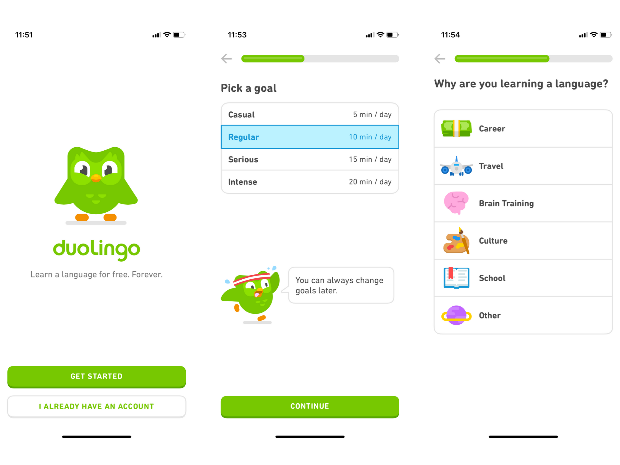 duolingo user onboarding experience