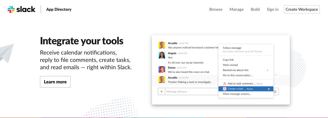 slack app directory of integrations