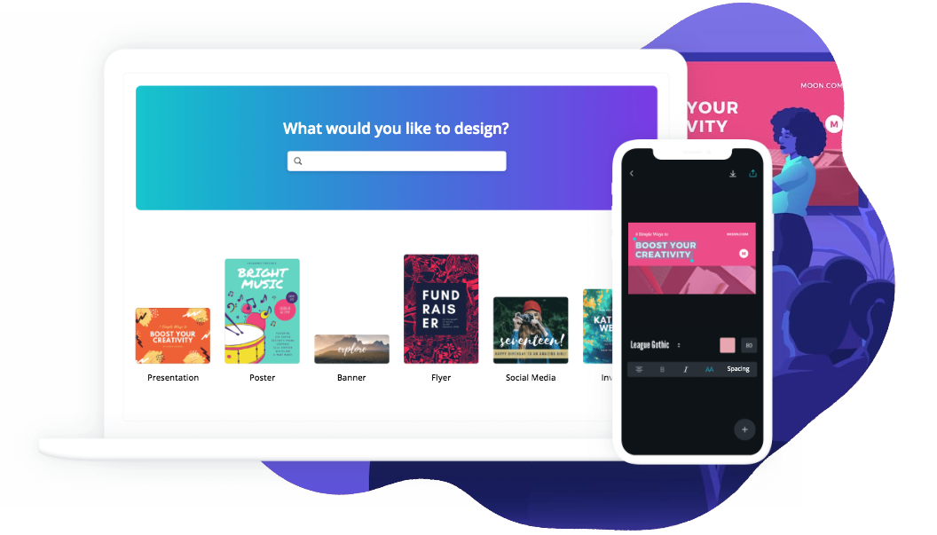 canva is an online design tool