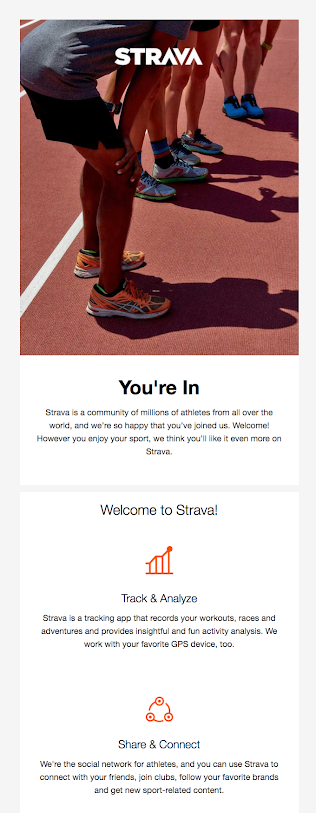 strava welcome email new users