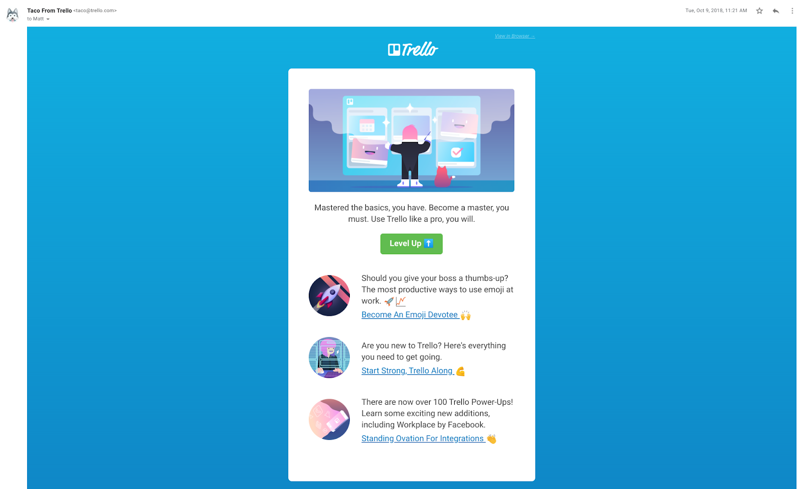 trello email example user feature education