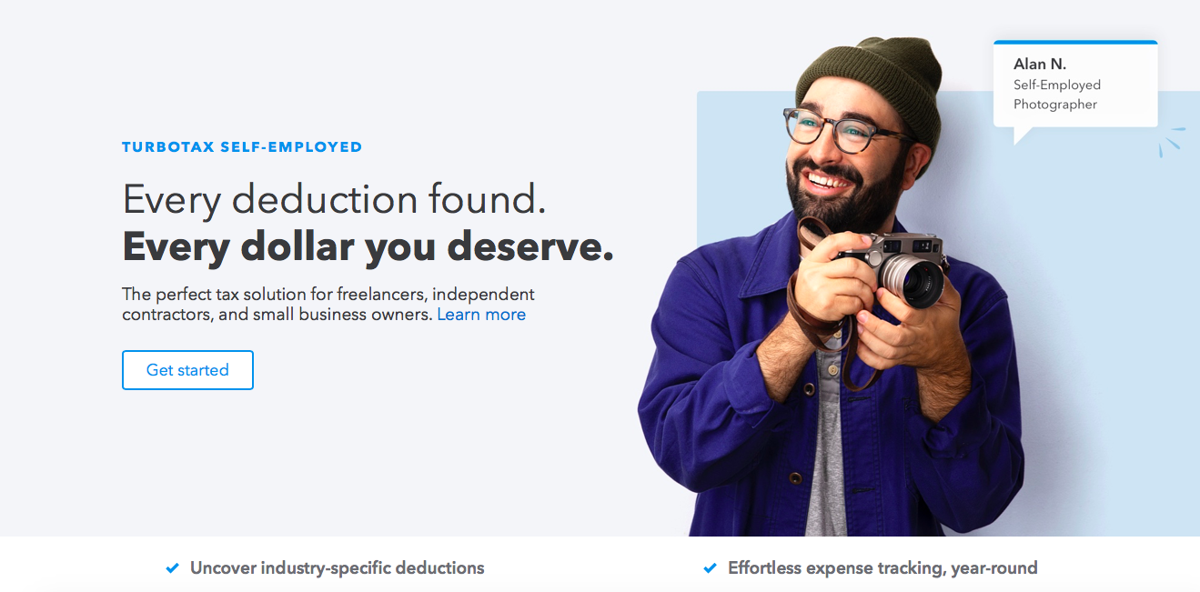 turbotax user persona marketing copy homepage
