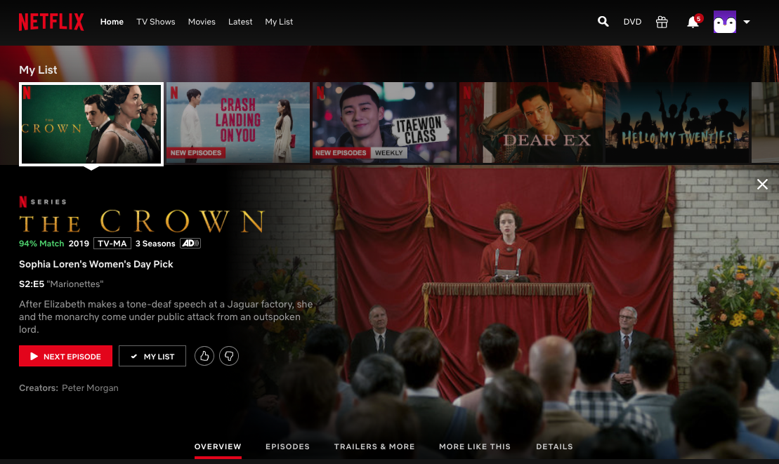 netflix homepage 2020 rating system thumbs up down