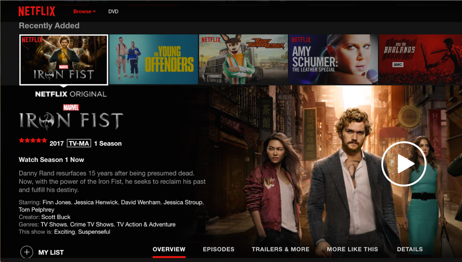 netflix old interface star rating