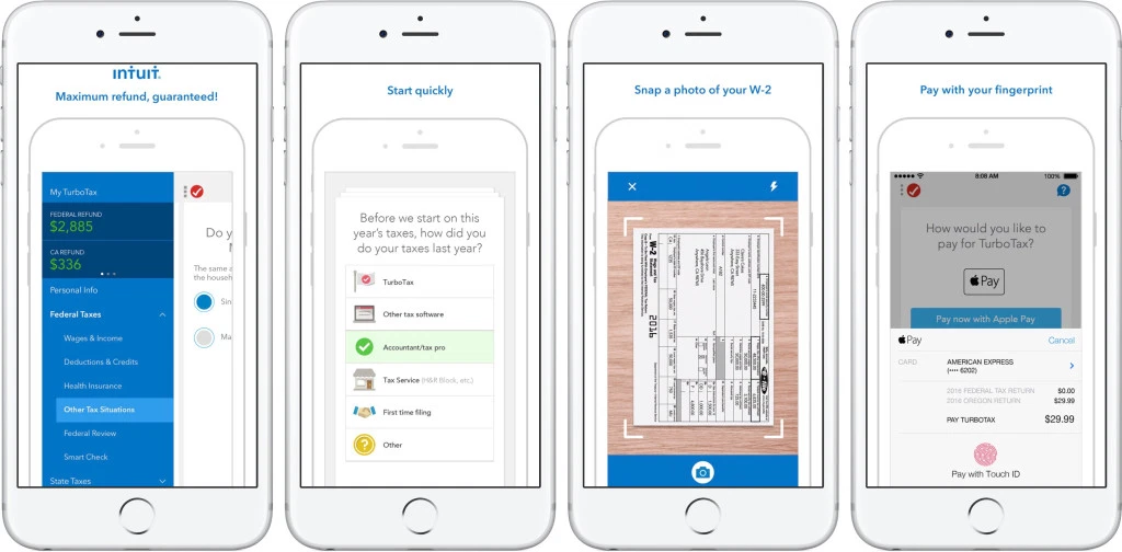 turbotax mobile app take a photo of your w2 omnichannel ux