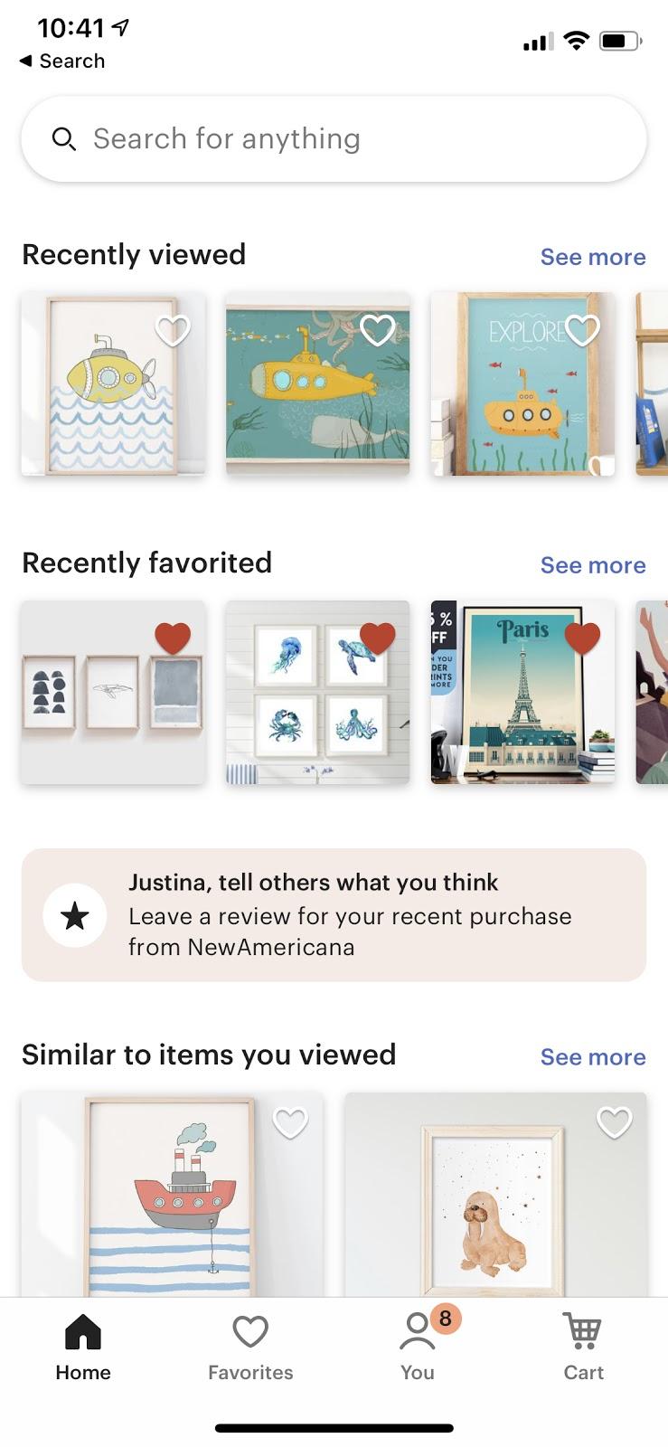 etsy mobile app omnichannel ecommerce ux