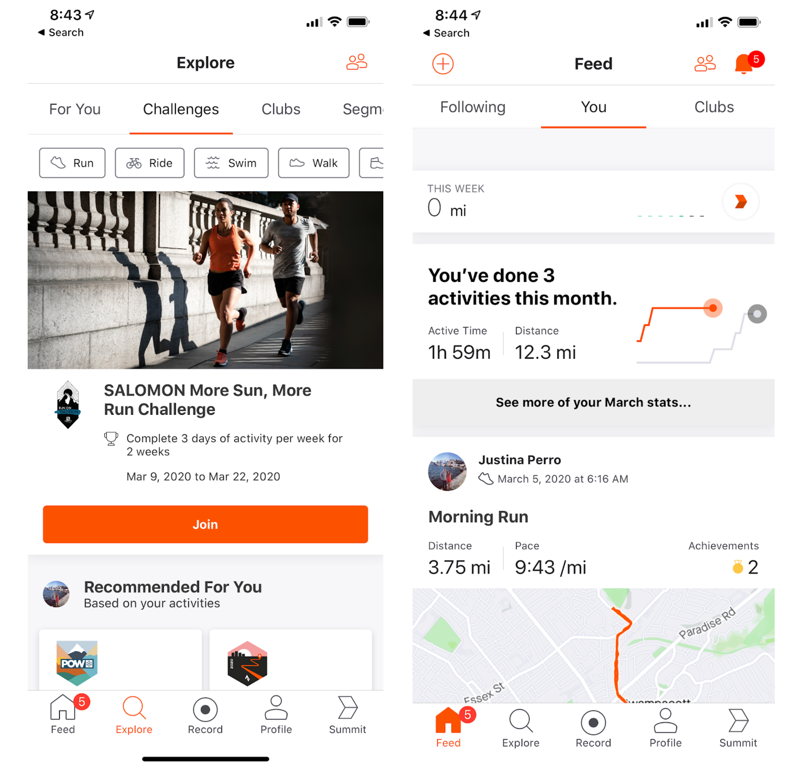 strava workout app gamification example
