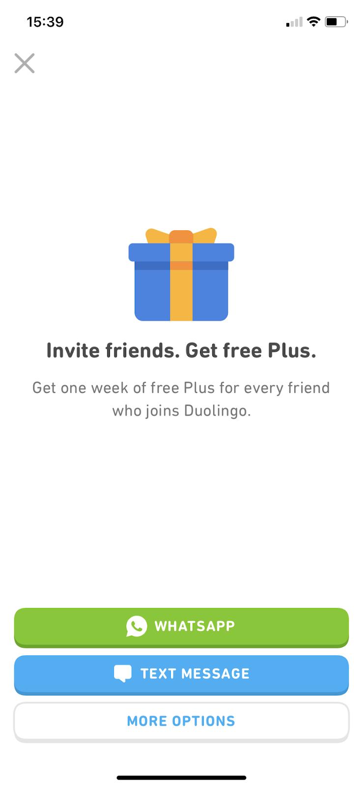 duolingo invite a friend campaign deep linking ctas