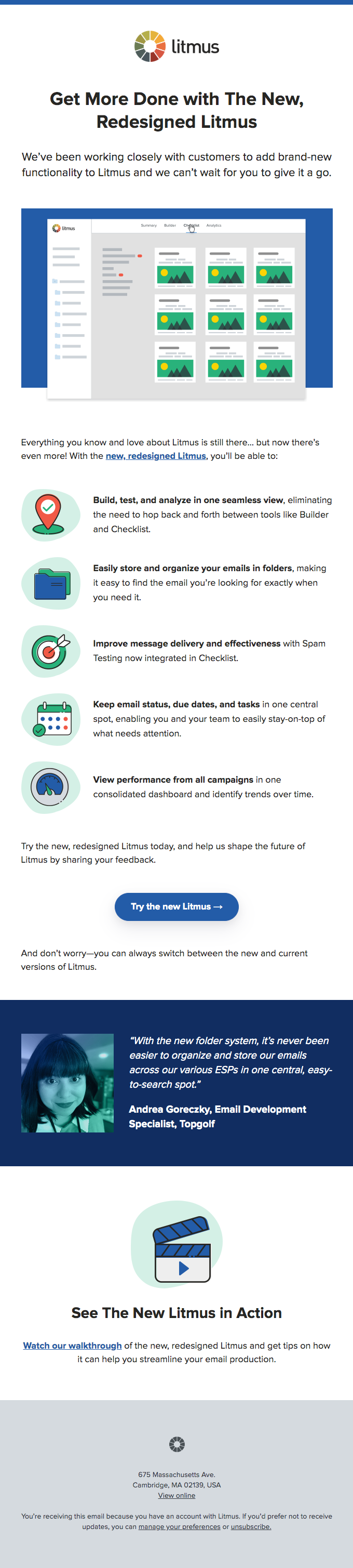 litmus new feature product update example from really good emails