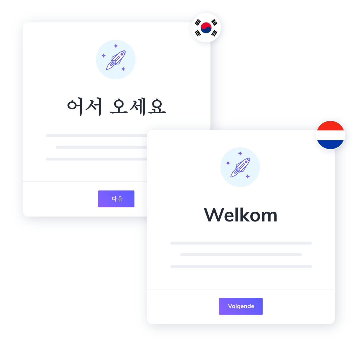 appcues localization how it works. upload translated content and publish