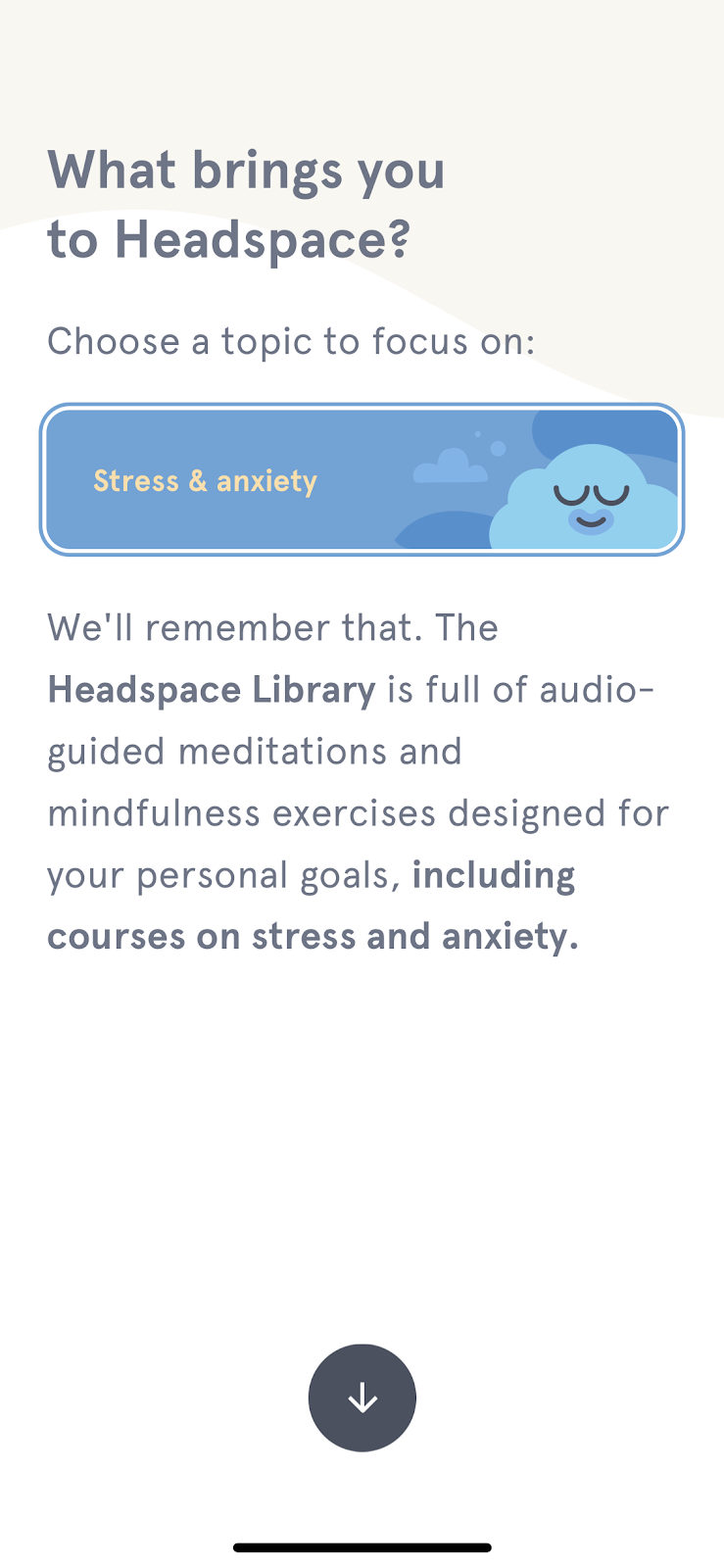 headspace personalized user experience example