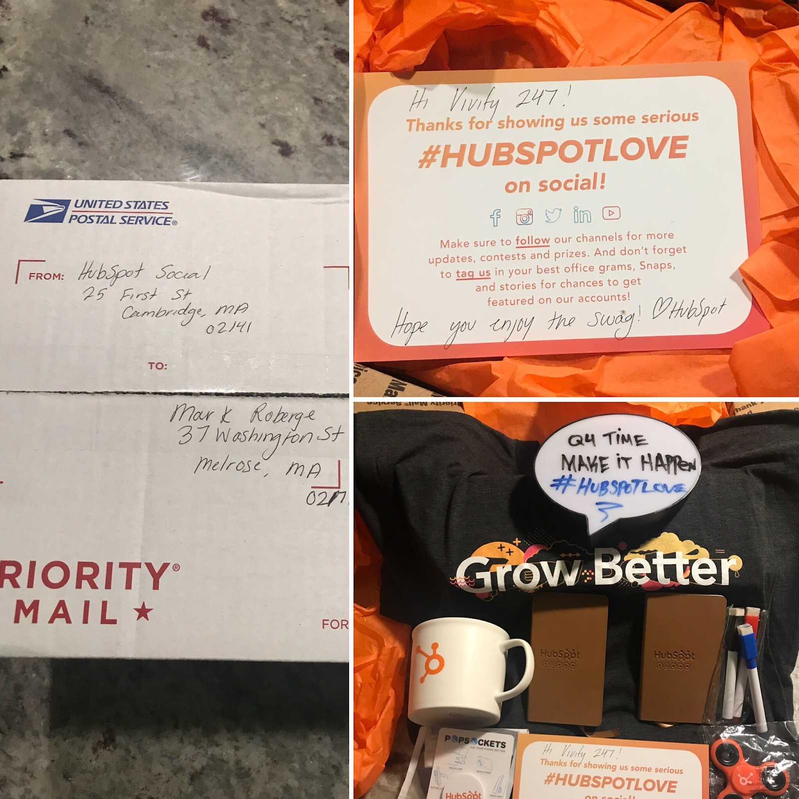 hubspot swag pack example