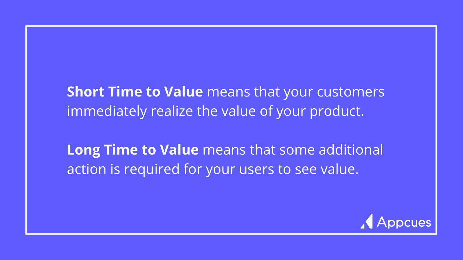 Time to Value Definitions