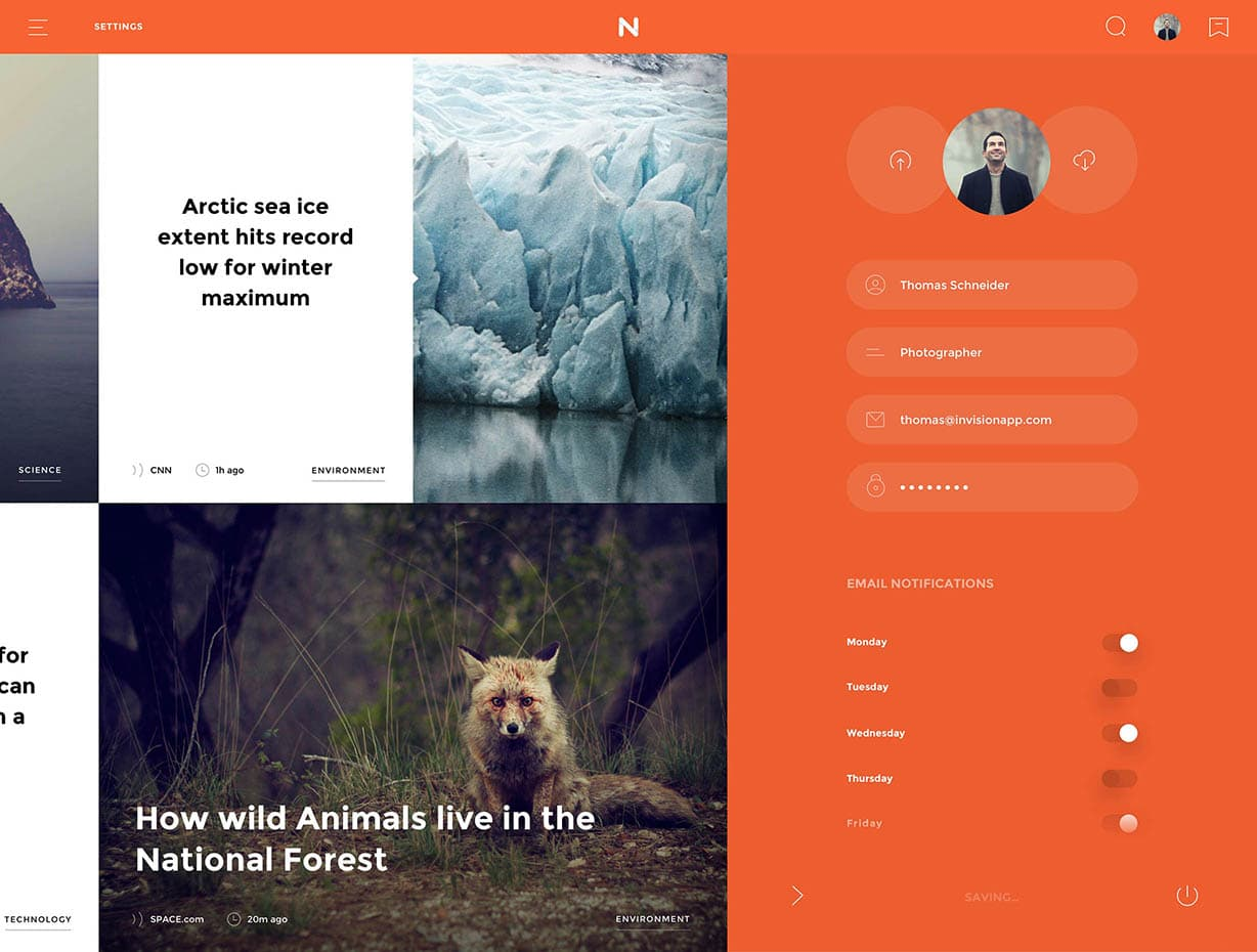 Versatle UI kit for photoshop and sketch. Free UI/UX kit download from Invision