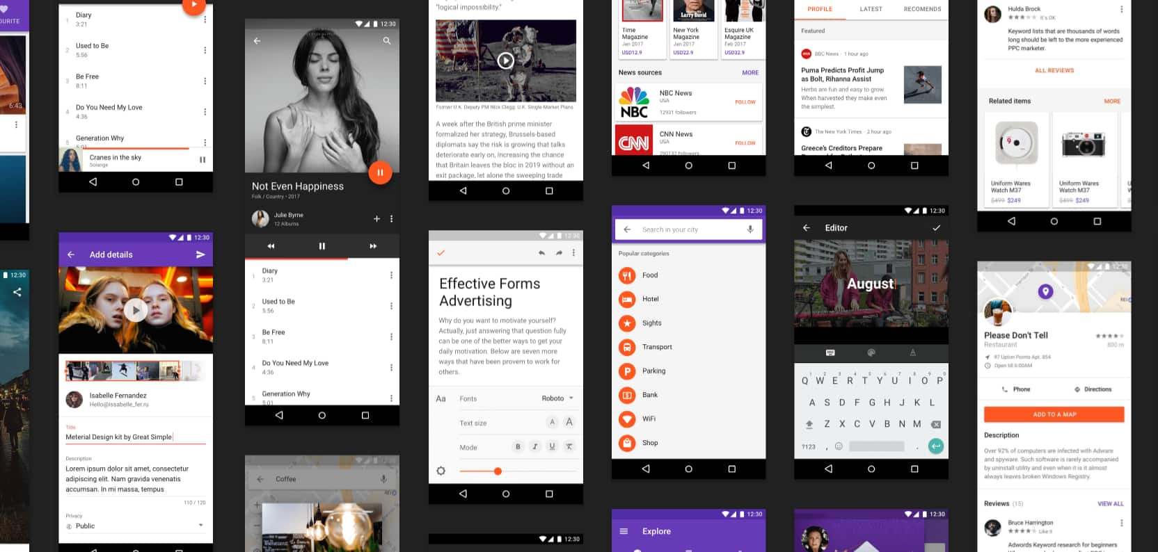 Android app UI kit free download. Material design UI kit free with GUI components designed according to human interface guidelines. Free to download