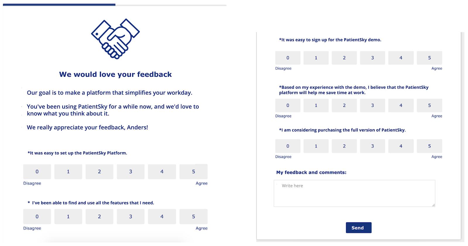 patientsky healthcare tech appcues in-app feedback customer survey