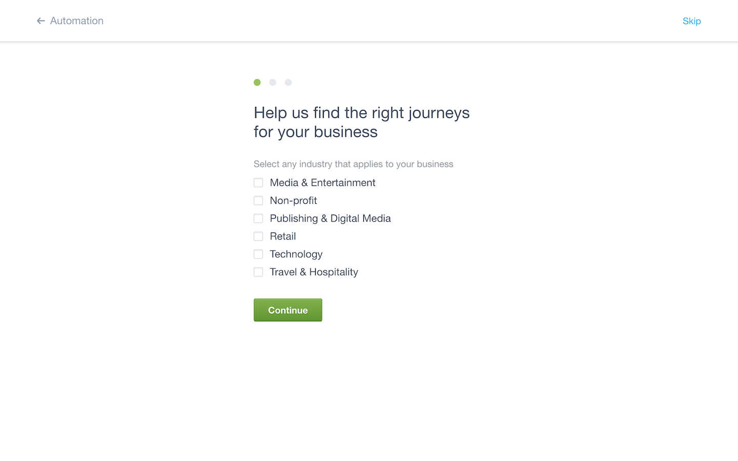 An example of customized UX for onboarding new users. Personalizing your user onboarding is an example of good UX when used correctly.