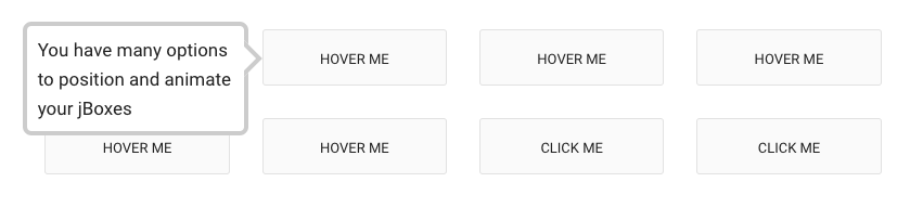 """This is a screenshot of a tooltip that says """"you have many options to position and animate your jboxes"""". This is a jquery tooltip plugin that is fully responsive."""