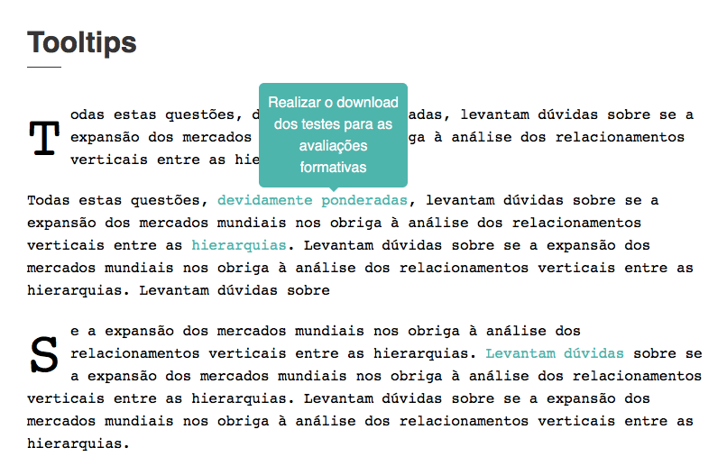 css tooltip over linked text